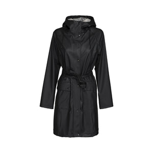 Ilse Jacobsen Rain71 Rain 71 trench style raincoat in Black.