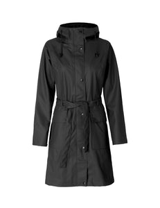 Ilse Jacobsen Rain71 Rain 71 trench style raincoat in Dark Antracite - deep charcoal.