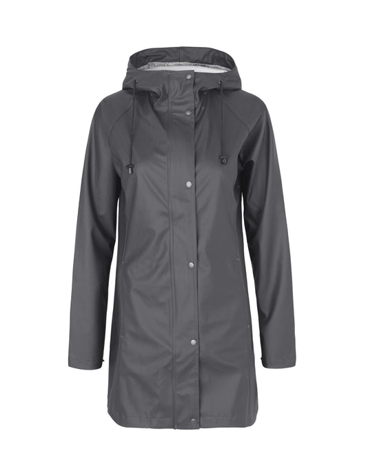 Ilse Jacobsen Rain87 Rain 87 light rain hooded jacket in Deep Antracite - dark charcoal.