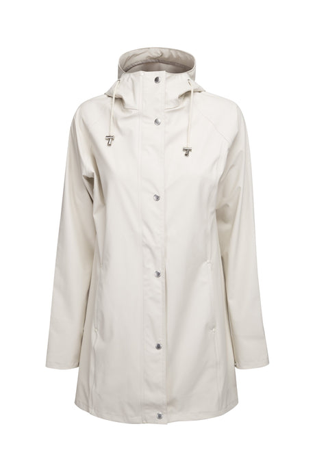 Ilse Jacobsen Rain87 Rain 87 light rain hooded jacket in Milk Creme, cream.