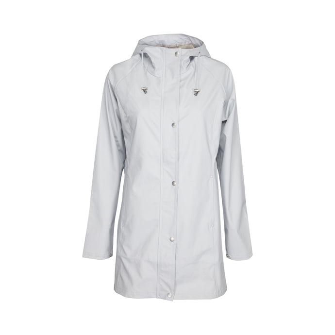 Ilse Jacobsen Rain87 Rain 87 light rain hooded jacket in White Blue, light ice blue.
