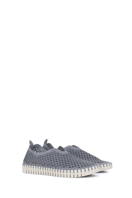 Ilse Jacobsen washable breathable microfibre Tulip shoes in Grey.