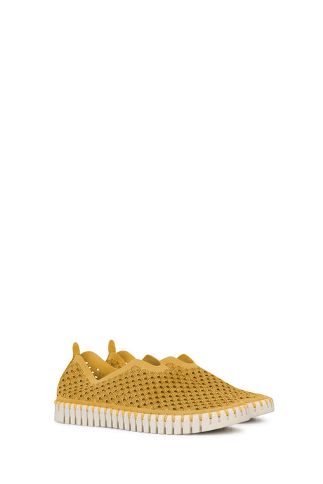Ilse Jacobsen Tulip shoes - recycled microfibre upper, natural rubber sole, breathable, comfortable, washable. Golden Rod.
