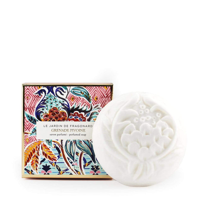 Fragonard French soap Grenade Pivoine grenadine peony in beautiful gift box.
