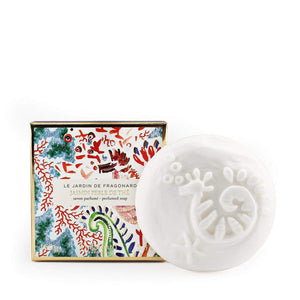 Fragonard French boxed soap Jasmine perle de the jasmine pearl tea.