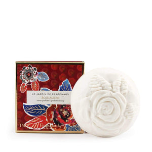 Fragonard French boxed soap Rose ambre (rose amber) made in France.