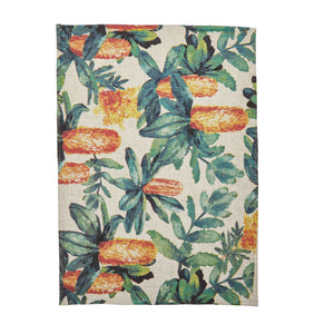 Bonnie and Neil tea towel - Banksia Multi