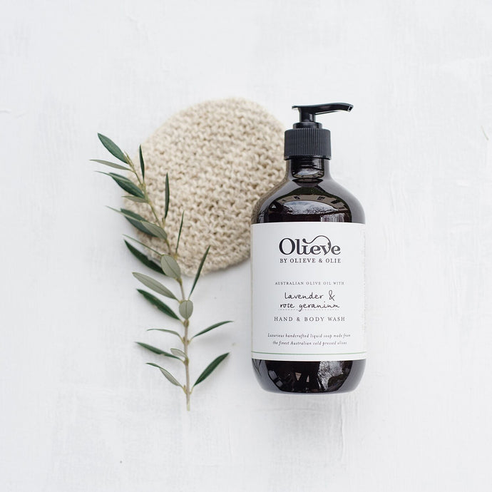 Olieve & Olie - lavender and rose geranium hand and body wash