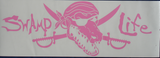 Swamp Life University of Florida Gators, Gator Skull Decal for Car, Truck, Boat, Cooler, Yeti, Cup, etc.