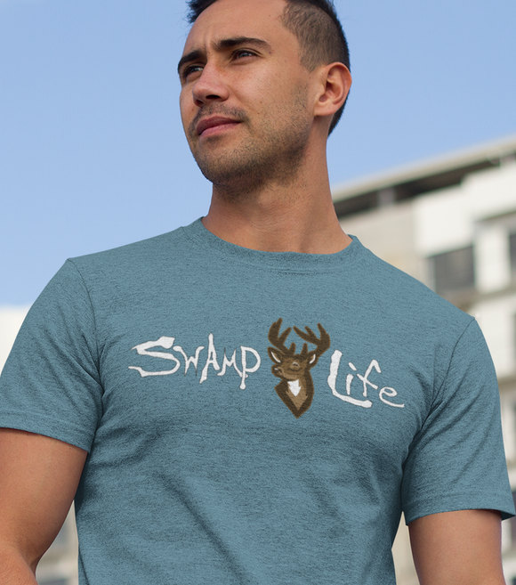 Swamp Life Buck Deer Unisex Short Sleeve T-Shirt