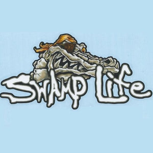 Swamp Life 3D Skull Decal