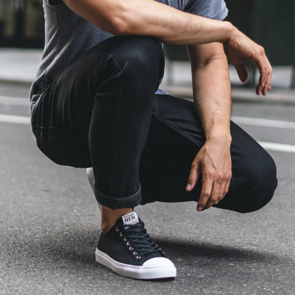Men's Low Top | Black x White
