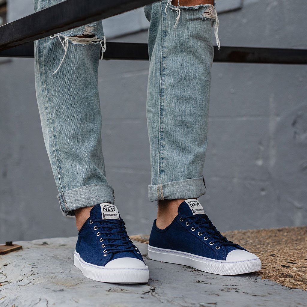 Men's Low Top | Navy x White