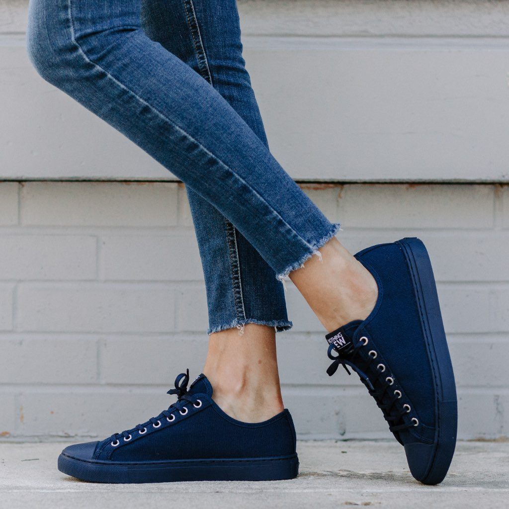 Women's Low Top | Navy