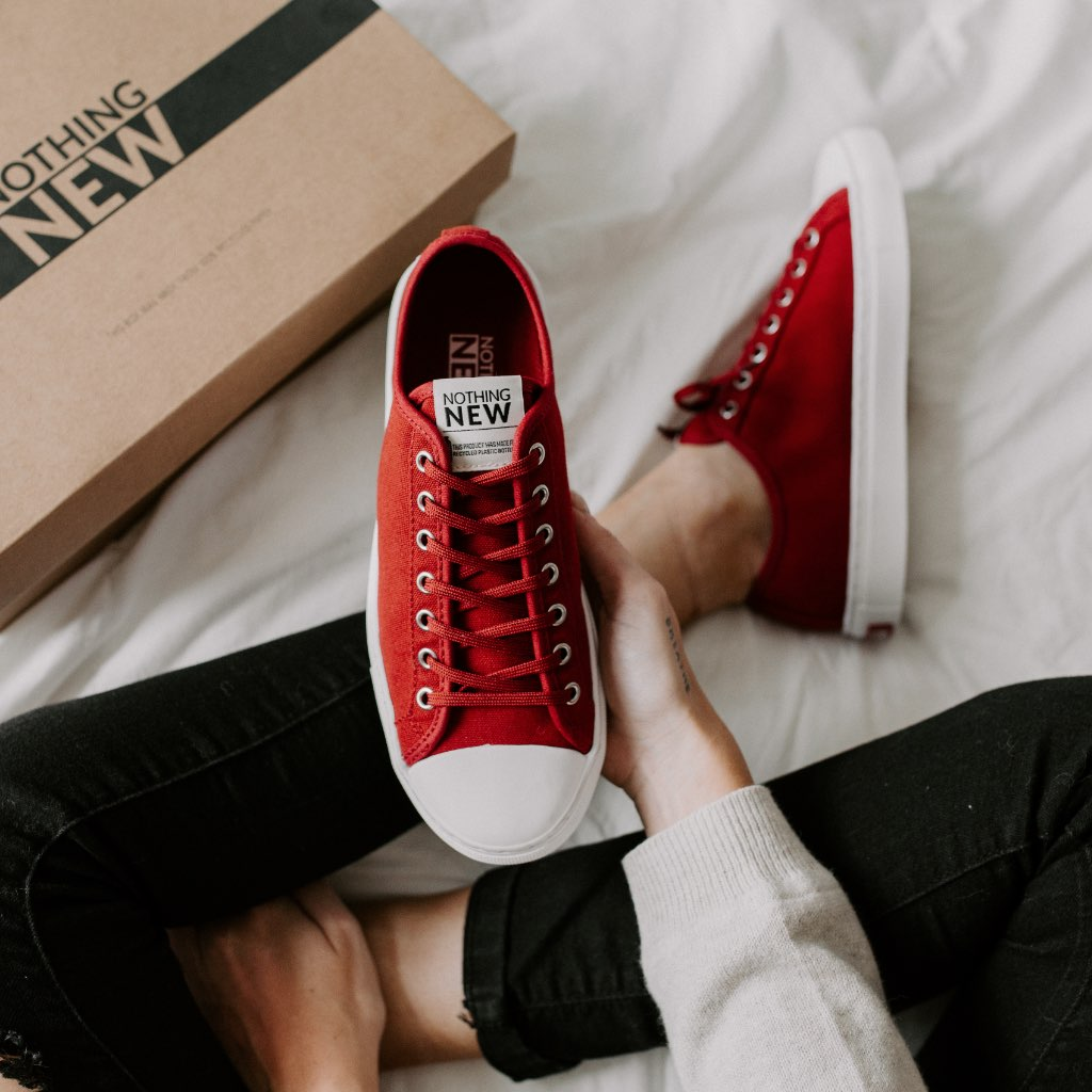 Women's Low Top | Red x White