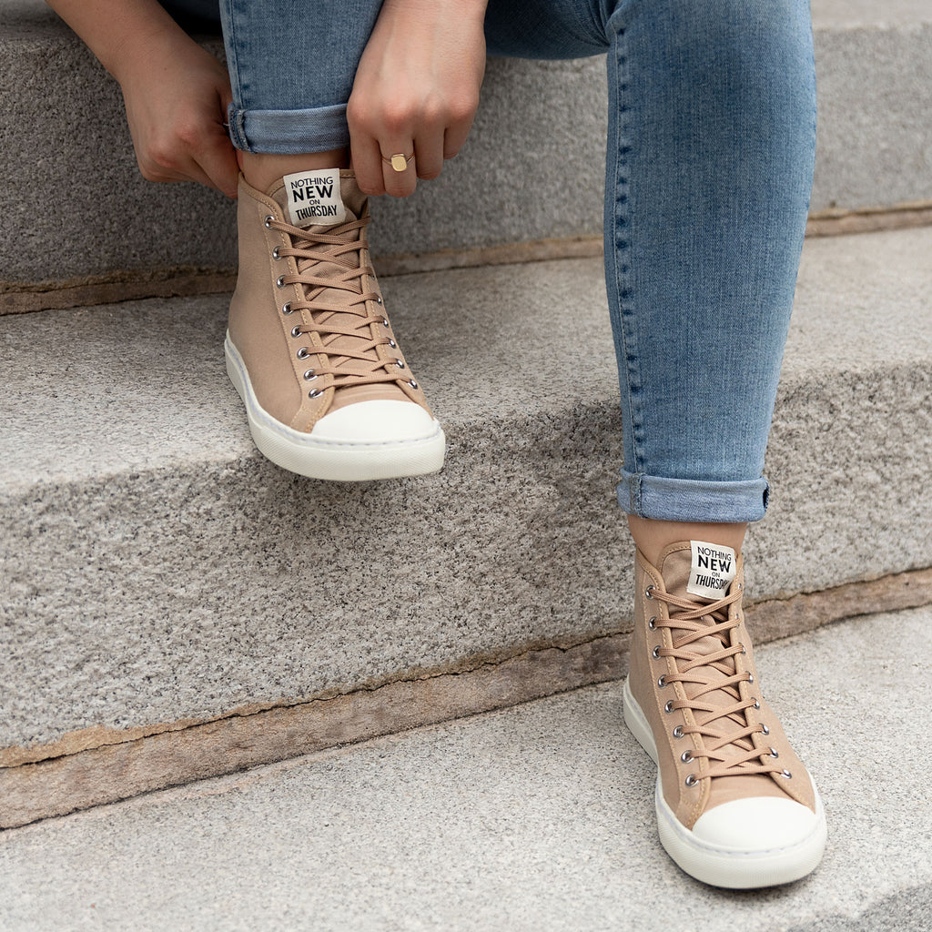 Women's High Top | Field Tan x White