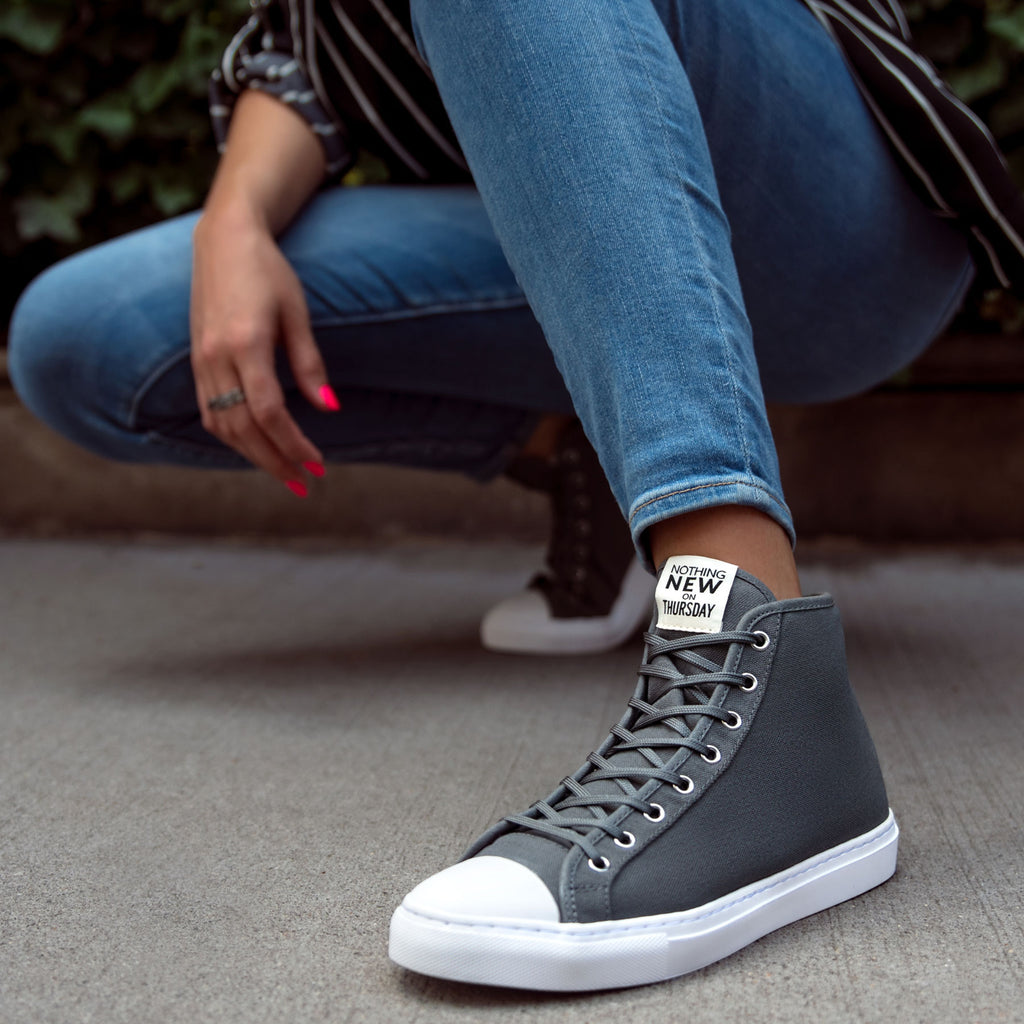 Women's High Top | Grey x White