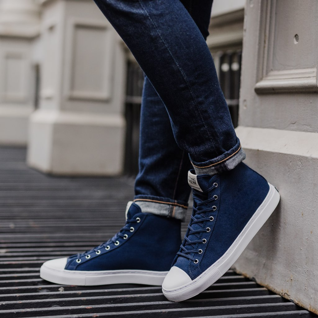 Men's High Top | Navy x White