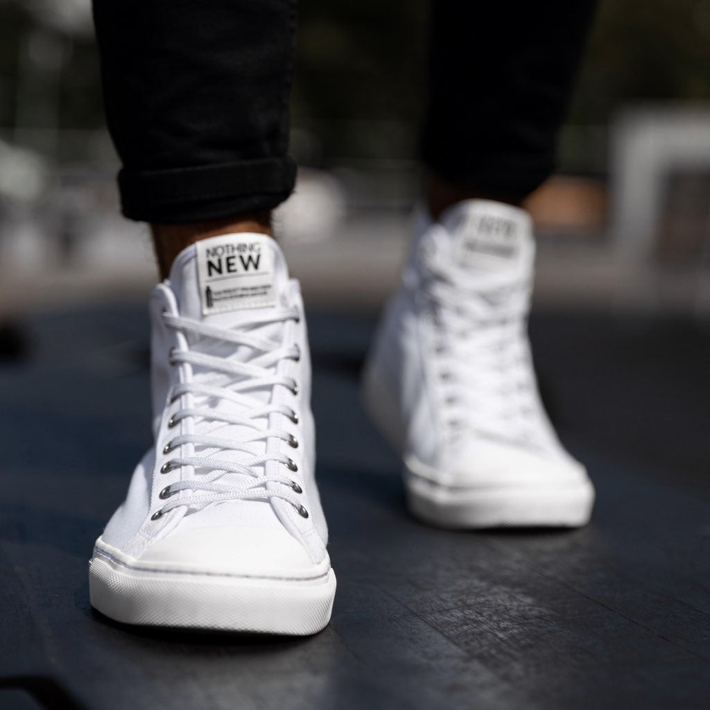 Men's High Top | White