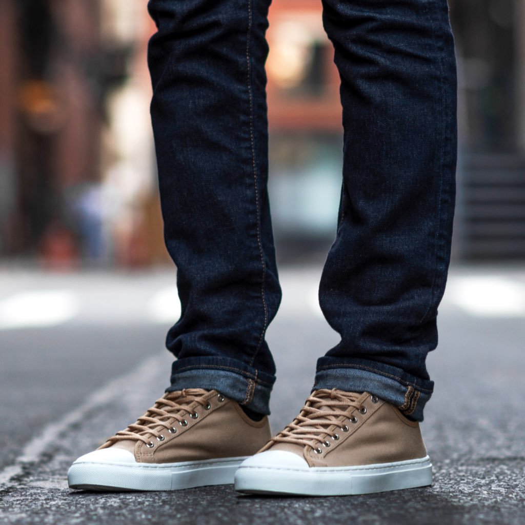 Men's Low Top | Field Tan x White