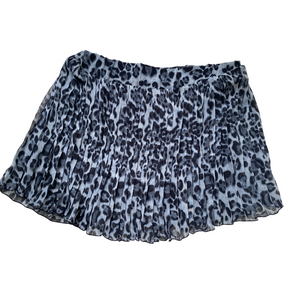 Blue Animal Mini Skirt