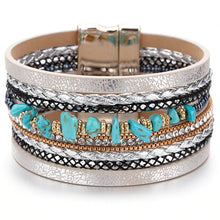 Load image into Gallery viewer, Natural Stone Leather Bracelets