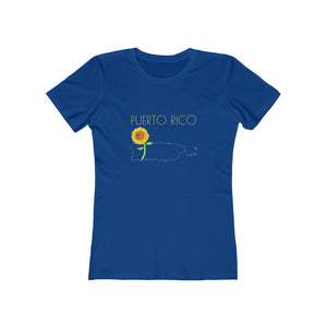 Puerto Rico Girasol - Women's The Boyfriend Tee