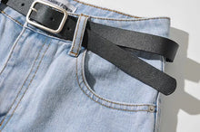 Load image into Gallery viewer, HIGH WAIST DENIM SHORT WITH BELT