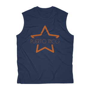 Puerto Rico Star - Men's Sleeveless Performance Tee  | More Colors Available