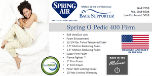 Spring Air Spring O Pedic Firm 400 Mattress