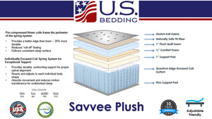 The Savvee Plush By U.S. Bedding