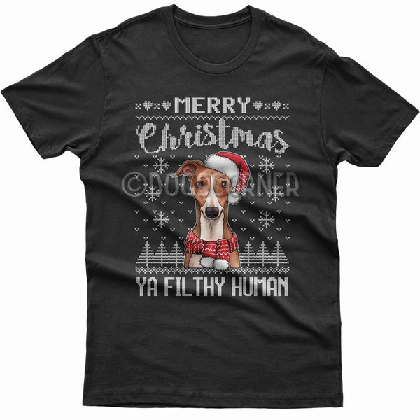 merry-christmas-filthy-human-whippet-t-shirt