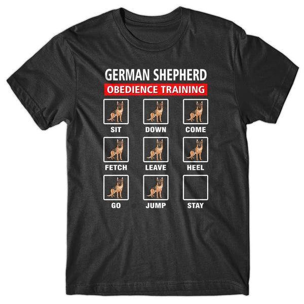 German Shepherd obedience training T-shirt