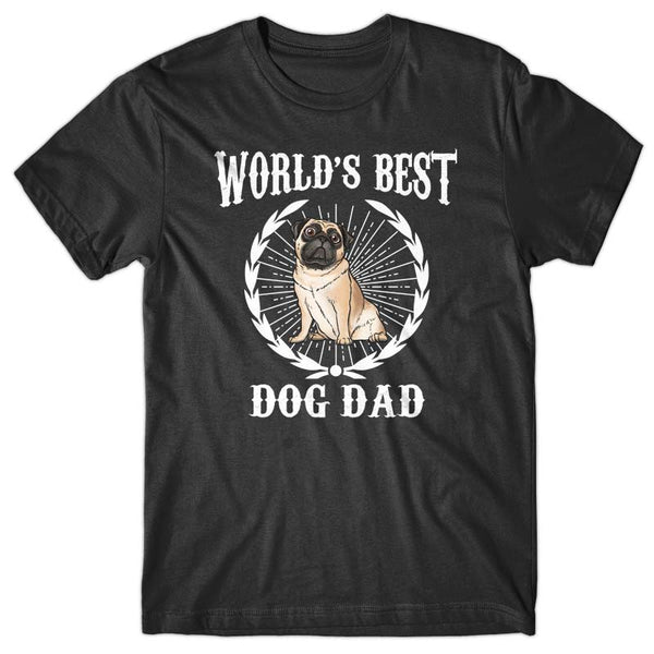 World's Best Dog Dad (Pug) T-shirt