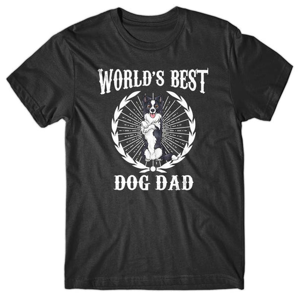 World's Best Dog Dad (Border Collie) T-shirt