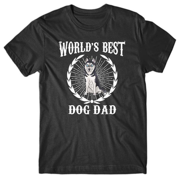 World's Best Dog Dad (Husky) T-shirt