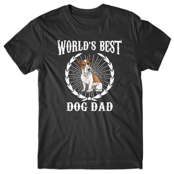 World's Best Dog Dad (Jack Russell) T-shirt