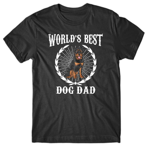World's Best Dog Dad (Rottweiler) T-shirt