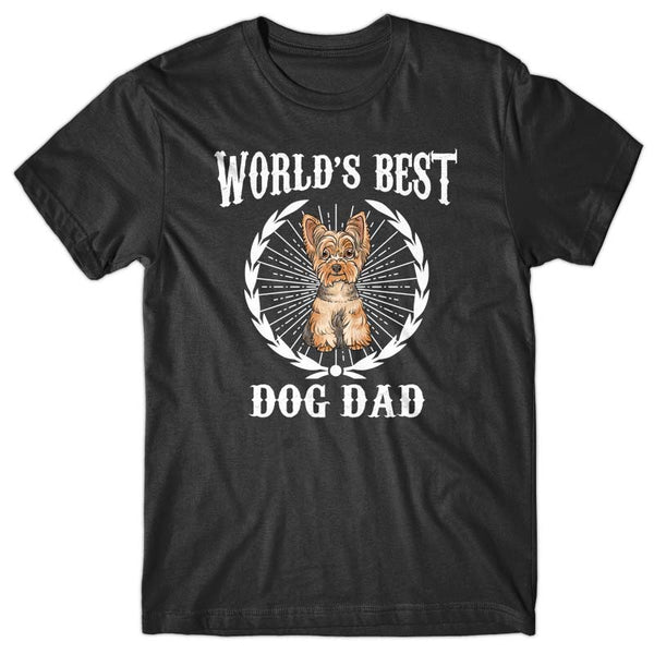World's Best Dog Dad (Yorkshire Terrier) T-shirt