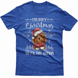Merry Christmas you filthy human T-shirt (Cavoodle)