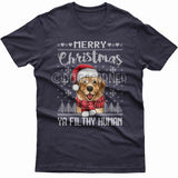 Merry Christmas you filthy human T-shirt (Golden Retriever)