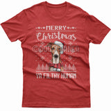 Merry Christmas you filthy human T-shirt (Whippet)