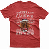 Merry Christmas you filthy human T-shirt (Poodle)