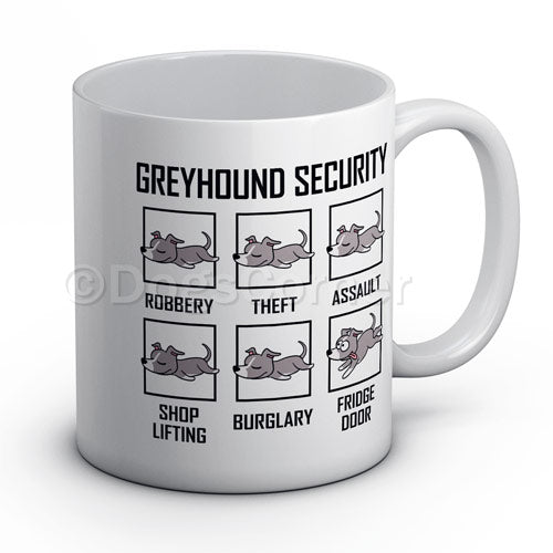 greyhound-security-novelty-mug