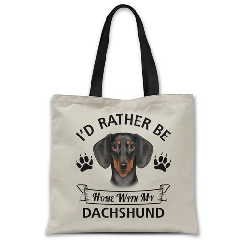 i'd-rather-be-home-with-dachshund-tote-bag