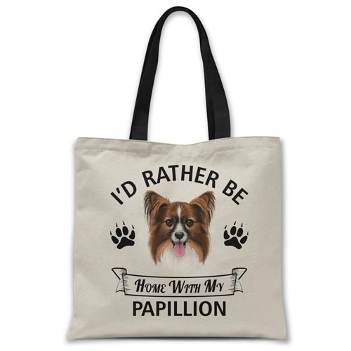 i'd-rather-be-home-with-papillon-tote-bag