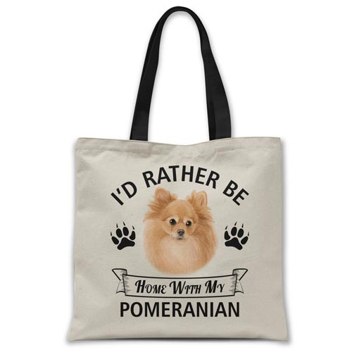i'd-rather-be-home-with-pomeranian-tote-bag