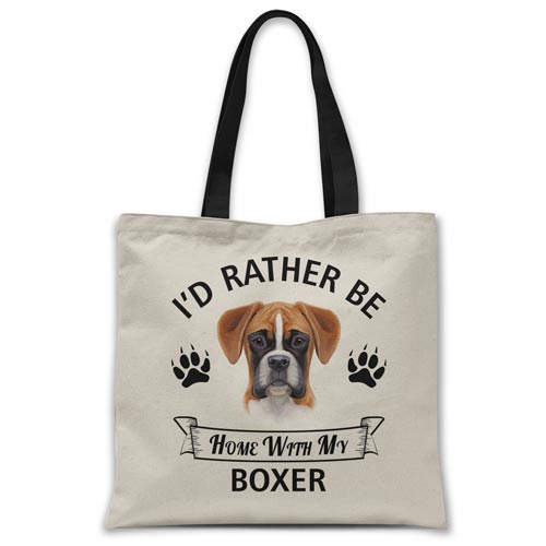 i'd-rather-be-home-with-boxer-tote-bag