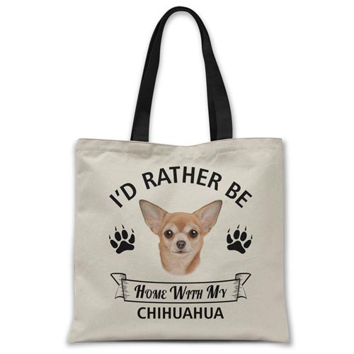 i'd-rather-be-home-with-chihuahua-tote-bag