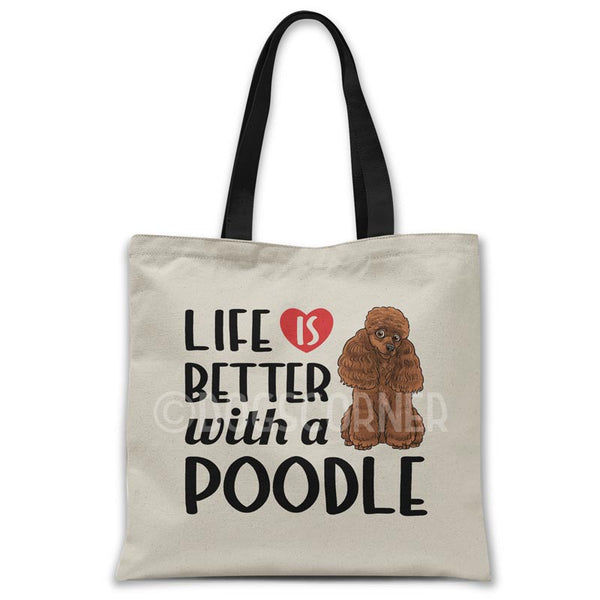 Life-is-better-with-poodle-tote-bag
